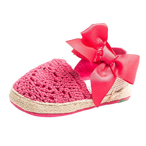 Bebé Niña Zapatos de verano infantil Sandalias tamaños de US, - caqui, 13-18 Months Rosso
