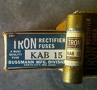 bussman kab15 rectifier fuse 15 amp 250 volt box of 10. Black Bedroom Furniture Sets. Home Design Ideas