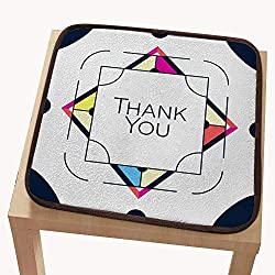 "Square seat Chair pad cushionseat Cushion pad for chairThank You Greeting Card Thanksgiving Design Abstract Geometric Elements Layout Template Card Invitation brochu 18""x18"""