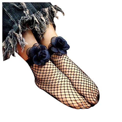 Women Fishnet Socks, Inkach Trendy Girls Fish Net Socks Sexy Lace Fishnet Net Top-Ankle Short Socks Stylish Blue