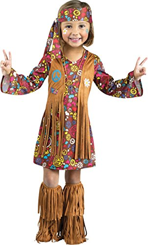 Peace Love Hippie Toddler Costumes (Peace and Love Hippie Costume - Toddler Large)
