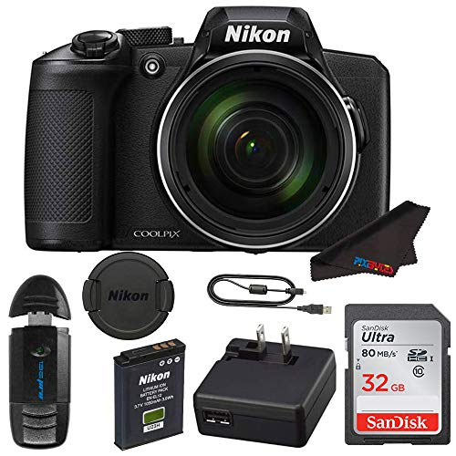 Nikon COOLPIX B600 Digital Camera (Black) + Pixi Basic Kit