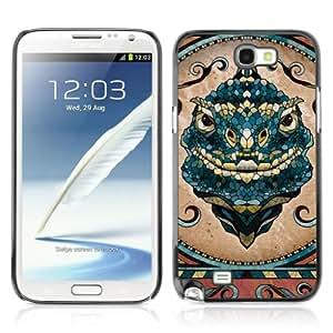 Designer Depo Hard Protection Case for Samsung Galaxy Note 2 N7100 / Beautiful Mosaic Iguana Lizard Art