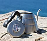 24oz Pour Over Drip KETTLE With Built-In THERMOMETER – With TIMER – Coffesto Gift Box – Durable Stainless Steel – Unique Gooseneck Design For Smooth Water Flow – Perfectly Brewed, Flavorful Coffee