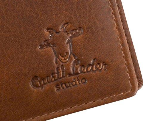 Gusti Cuero studioFoster Cartera Monedero Hombre Cuero Vintage Retro Piel de Vaca 2A123-33-4
