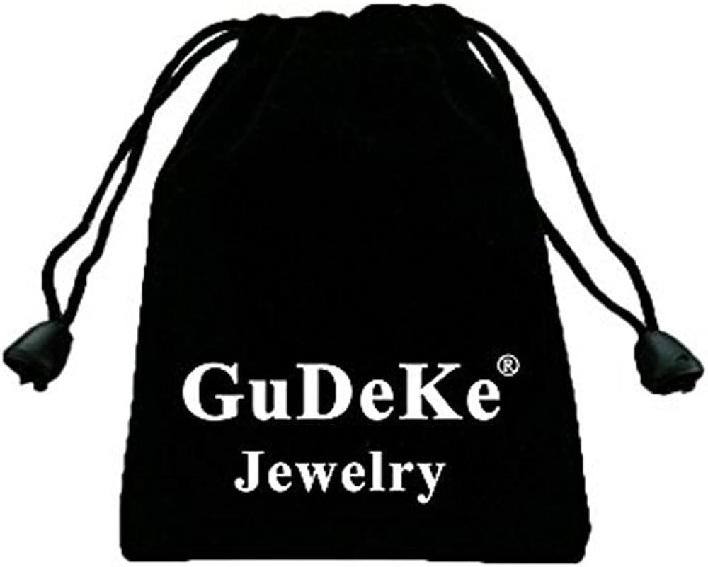Gudeke Hommes 14k Plaqu/é Or Cz J/ésus Visage Pendentif Hip-Hop 24 Cha/îne Collier cubaine