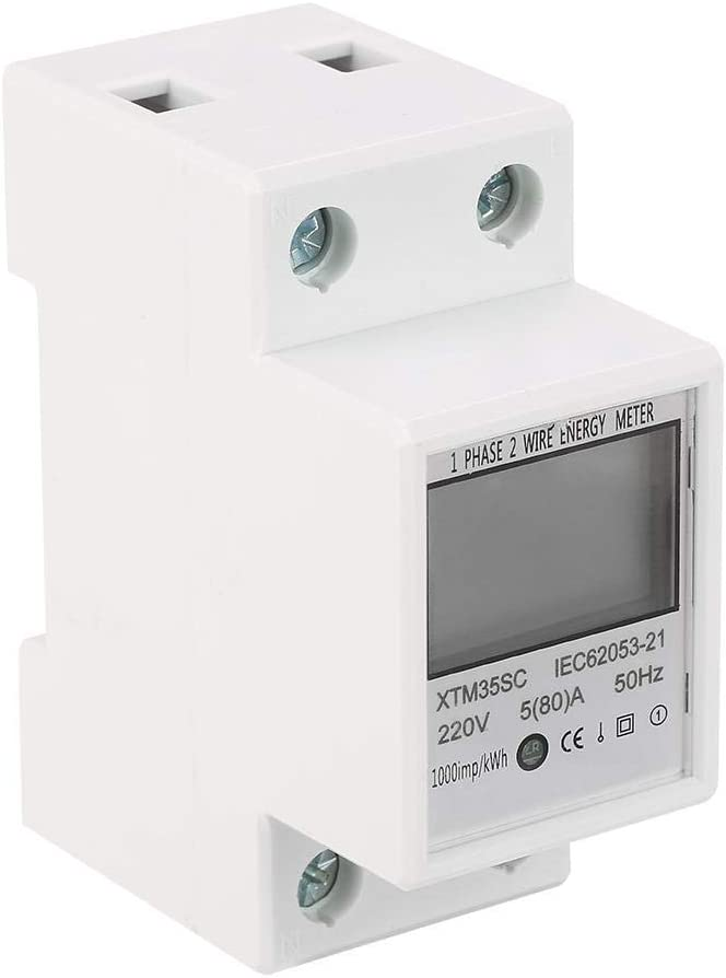 A Digital 1-Phase 2 Wire 2P DIN-Rail Electric Meter Electronic KWh Meter KWh Meter 220V 5 80