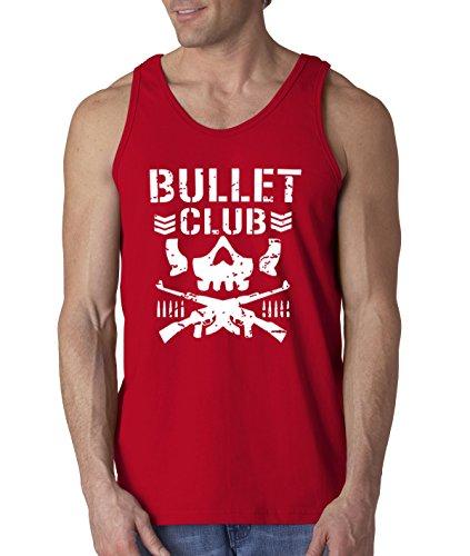 New Way 786 - Men's Tank-Top Bullet Club Skull Bone Soldier Japan Pro Wrestling Large Red