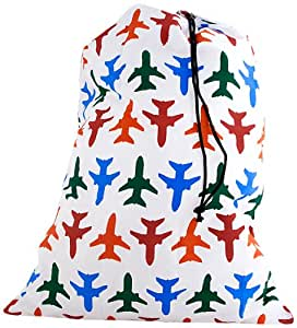 Kikkerland Travel-Size Laundry Bag, Airplanes