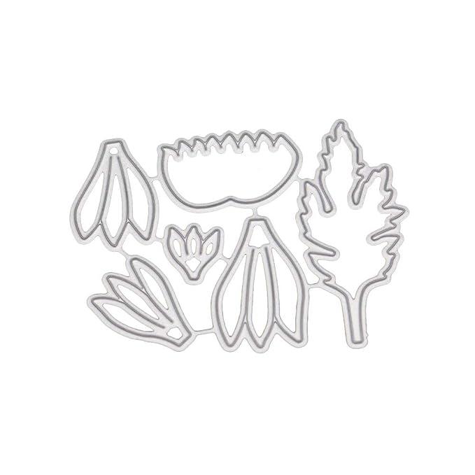 JiaMeng Juego de Troqueles, Dies Corte Plantillas de moldes de Corte de Metales del Corazš®n Estarcir DIY Scrapbooking Gofrado Troquelado Kit en Relieve ...