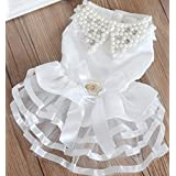 """Colorfulpets Pet Wedding Dress Cute Dog Dress for Small Puppies (M (Chest 14"""" Back 14.5""""))"""