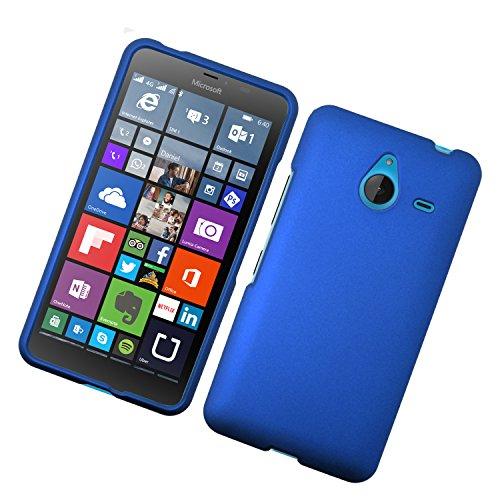 Eaglecell - Designed for Microsoft Lumia 640 XL LTE 5.7 inch/Nokia 640 XL - Snap on Rubberized Hard Protector Case Cover - Blue