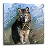 Cheap 3dRose Wolf Wall Clock, 10 by 10-Inch