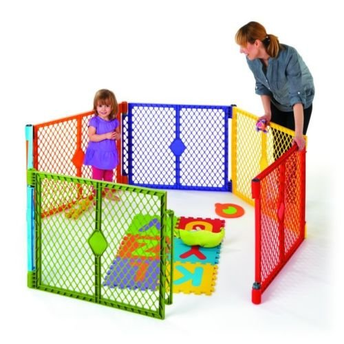North States Industries Baby / Pet Gate & Portable Play Y...
