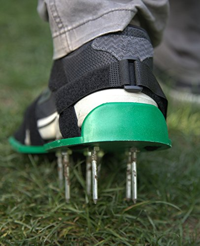 MAXTID Upgraded Lawn Aerator Shoes - with 10 Adjustable Cinch Straps, Heavy Duty Lawn Spiked Soil Sandals for Aerating Your Garden or Yard (1 Pair) Universal Size by MAXTID (Image #6)