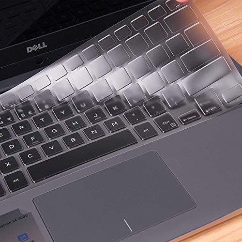imComor Ultra Thin Clear Keyboard Cover Compatible Dell Inspiron 13 5000 13.3 i5378 5379 & Dell Inspiron 13 7370 7373 7368 7378 & 15.6 Dell Inspiron 15 5578 5579 7570 7573 7579(No Numeric Keypad)