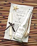 Message In A Bottle ® Signature Glass Wedding Invitation Sample - Beachcomber