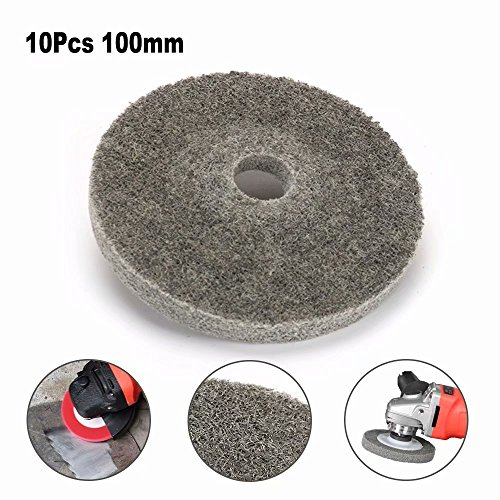 (100mm 4 inch Nylon Sanding Disc Fiber Grinding Polishing Wheel Abrasive Buffing Wheel Pad for Polishing of Metals, Ceramics, Marble, Wood Crafts Rotary tool 10Pcs 9P)
