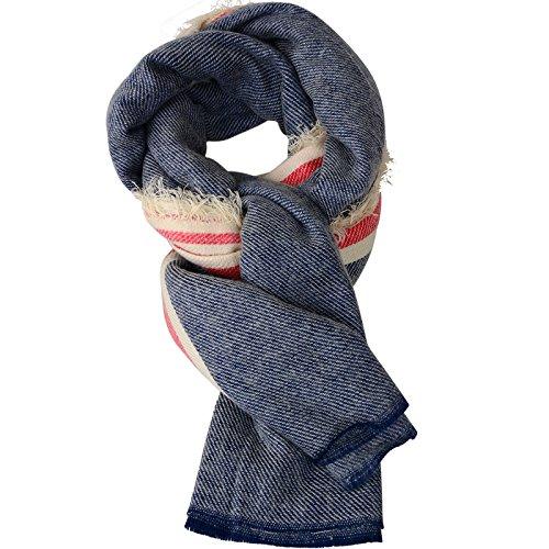 Femmes Mesdames Automne / Hiver rayée à franges étole de châle écharpe Wrap