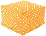 Majestic Home Goods Ikat Dot Ottoman, Large, Citrus