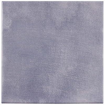 """SomerTile FCVAAZ Azul Peintre Porcelain Floor and Wall Tile, 5.875"""" x 5.875"""""""