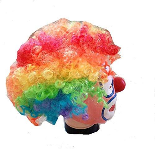 Rwdacfs Halloween mask,Christmas Coloring Hair Red Nose Clown mask Funny Wig ()