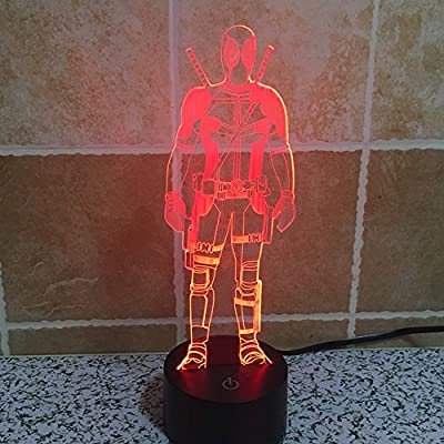 First Lamp 3d Led for Desk Table Star War Clone Troopers Night Light 7 Color Change Lighting Lamps Gift Household Home Decoration Accessories