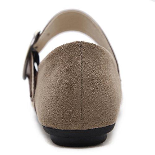 Makegsi Women Lace-up Ballerine Driving Shoes Scarpe Casual Slip On Mocassini Albicocca