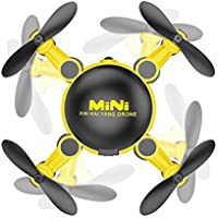 Owill KY901 Mini 2.4GHz 4CH 6-Axis Gyro Drone RC Quadcopter 3D UFO Helicopter Without Camera (Yellow)