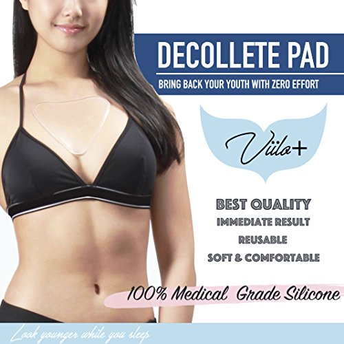Price comparison product image Anti-Wrinkle Chest Pad for Sun Damage Repair and Wrinkle Prevention, Wrinkle Repair for Chest Wrinkles, Reusable Silicone Décolleté Pad, Overnight Anti-Wrinkle Treatment Chest Pads for Women