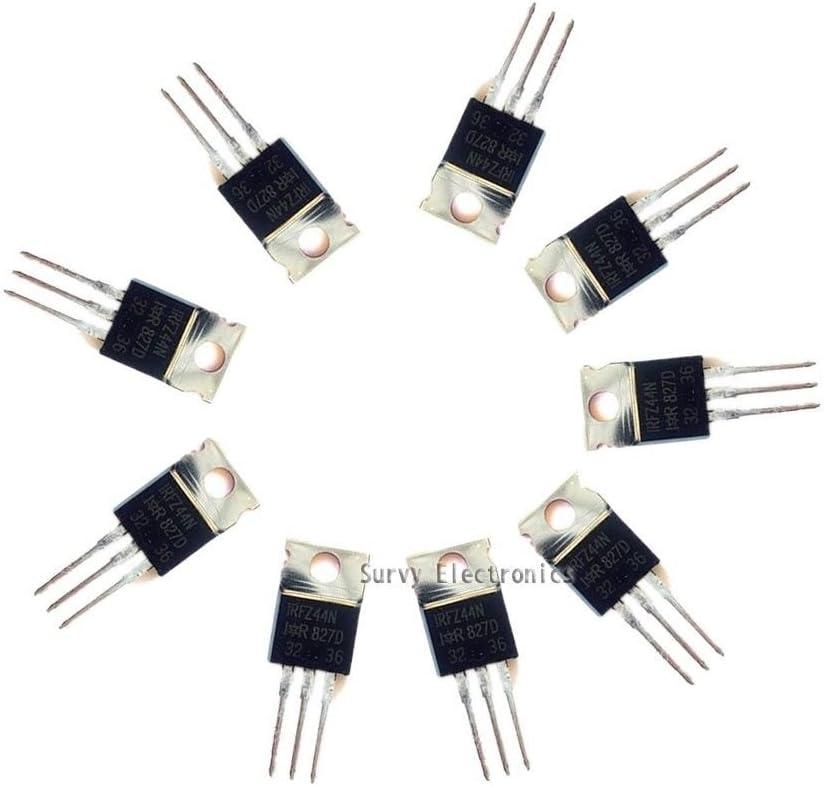 Exiron 100Pcs IRFZ44N IRFZ44 N-Channel 49A 55V Transistor MOSFET