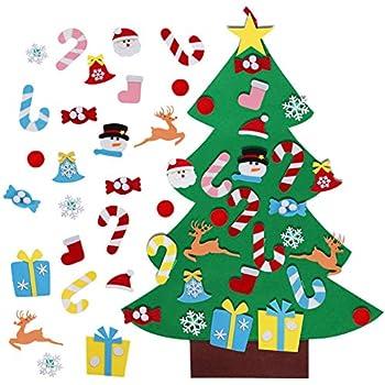 Christmas Items.Aerwo 3ft Diy Felt Christmas Tree Set 26pcs Detachable Ornaments Wall Hanging Xmas Gifts For Christmas Decorations