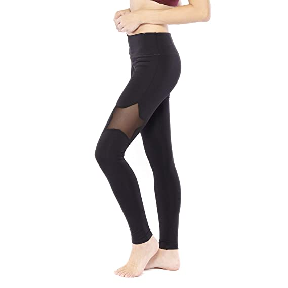 Electric Yoga Star Mesh Leggings High Waisted Compression Workout Pants Amazon Co Uk Clothing