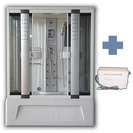 Box Doccia Bagno Piccolo.Box Doccia Idromassaggio Con Vasca E Bagno Turco 150x85 Cm Display