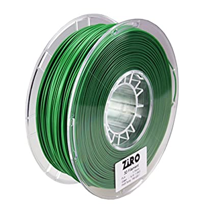 ZIRO 3D Printer Filament PLA 1.75 1KG(2.2lbs), Dimensional Accuracy +/- 0.05mm, Green