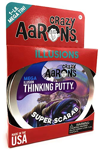 Crazy Aaron's Illusions Thinking Putty MEGA Tin Super Scarab - 1 Pound (.16oz) by Crazy Aaron's (Image #2)