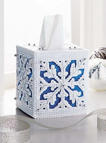 Mary Maxim 26226 Plastic Canvas Tissue Box Kit 5