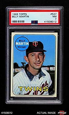 Amazoncom 1969 Topps 547 Billy Martin Minnesota Twins
