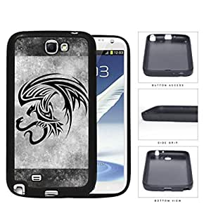 Eagle And Snake Aztec Grunge Rubber Silicone TPU Cell Phone Case Samsung Galaxy Note 2 II N7100