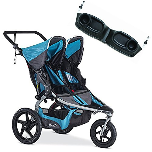 BOB Revolution Flex Duallie Stroller With Snack Tray Bundle (Lagoon)