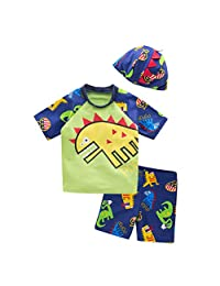 May's Kids Boys Sun Protection Swimwear Swimming Bathing 3 Pieces Sets
