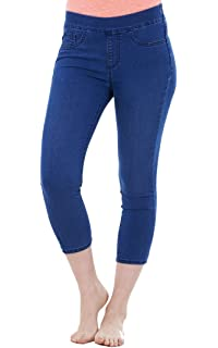 d7ddd715c3bbbf Ex Famous Store Ladies Pull On Cropped Trousers Womens Pants Crops Summer  Jeggings