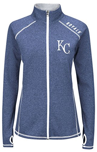 Majestic Athletic Kansas City Royals MLB Womens Dream Of Victory Full Zip Track Jacket Plus Sizes (1X)