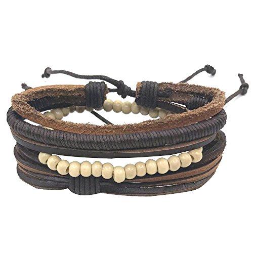 b72b29ee69f0 Bueno wreapped YoKII pulseras de cuero para hombres y mujeres ...