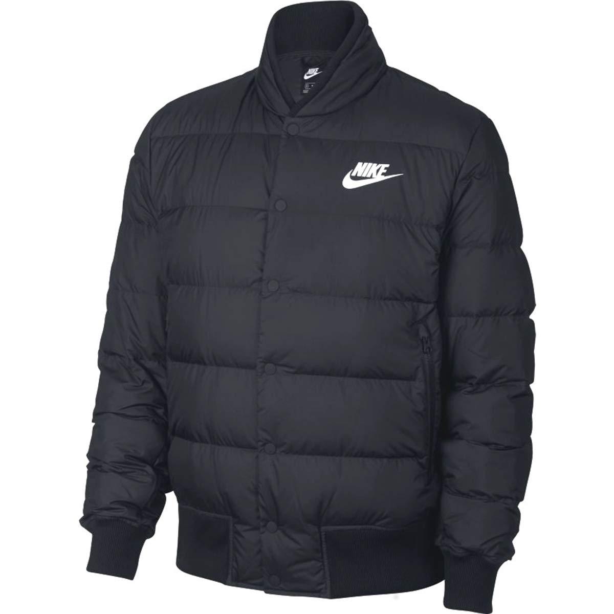 Nike 928819 Men's Down Fill, Chaqueta de bombardero Hombre, Negro (Black/White), L 928819-010