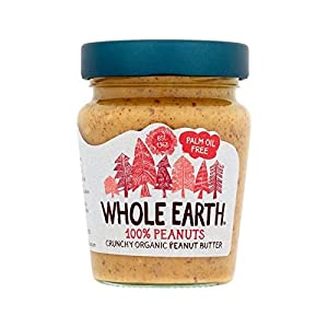 Whole Earth Organic Crunchy 100% Nuts Peanut Butter 227g - Pack of 2