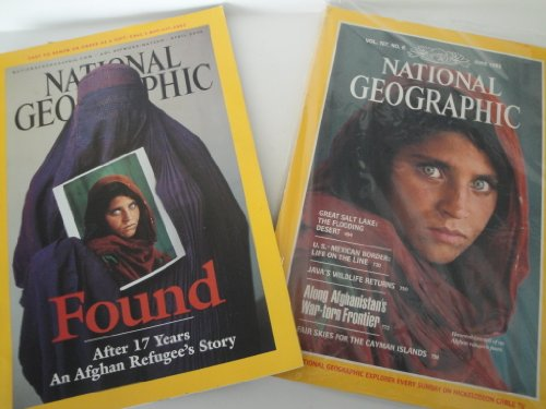 National Geographic Magazine - Set of 2 Issues - Afghan Girl with Green Eyes - June 1985 Volume 167 Number 6 and April 2002  Volume 201 # -