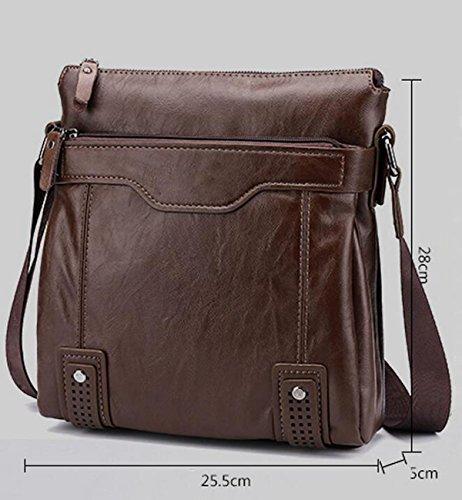 Bolso De Los Hombres Bolso De Hombro Ocio Messenger Bolsa Bolso Paquete De Negocio Ambiente De La Moda Brown1