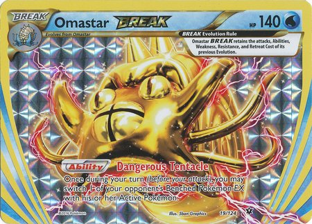 Pokemon - Omastar Break (19/124) - XY Fates Collide - -