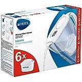 BRITA Marella blanca Pack Ahorro – Jarra de Agua Filtrada con 6 cartuchos MAXTRA+, Filtro de agua BRITA que reduce la…